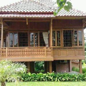 rumah kayu palembang rumah panggung type 9x12 - rizki